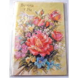 Carte postale neuve avec enveloppe bonne fête (lot 23.04)