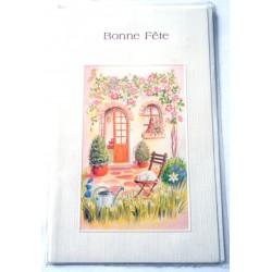 Carte postale neuve avec enveloppe bonne fête (lot 23.07)