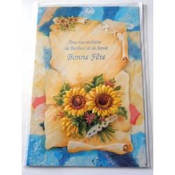 Carte postale neuve avec enveloppe bonne fête (lot 23.09)