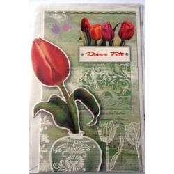 Carte postale neuve avec enveloppe bonne fête (lot 23.11)