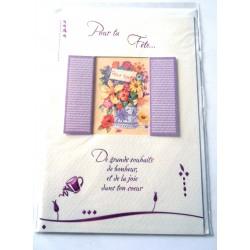Carte postale neuve avec enveloppe bonne fête (lot 23.14)