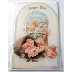 Carte postale neuve avec enveloppe bonne fête (lot 24.02)