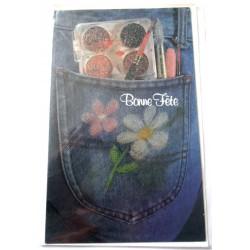 Carte postale neuve avec enveloppe bonne fête (lot 24.07)