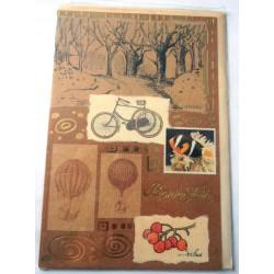 Carte postale neuve avec enveloppe bonne fête (lot 24.08)