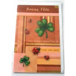 Carte postale neuve avec enveloppe bonne fête (lot 24.10)