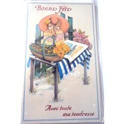 Carte postale neuve avec enveloppe bonne fête (24.11)