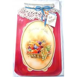 Carte postale neuve avec enveloppe bonne fête (lot 24.12)