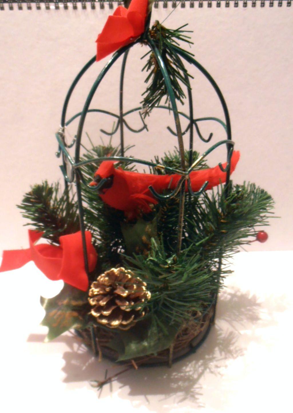 oiseau decoration noel DÉCORATION NOËL SAPIN CAGE OISEAU FER FORGE DECO CHEMINÉE TABLE NEUVE oiseau decoration noel