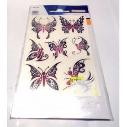 Planche de tatoo motifs papillons V1 - Produit neuf