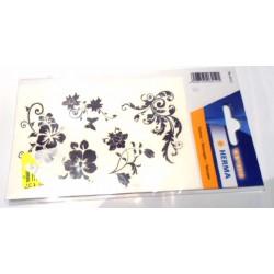 Planche de tatoo motifs fleurs - Produit neuf