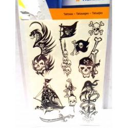 Planche de tatouages tatoo motifs tête de mort - Produit neuf