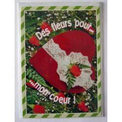 Carte postale neuve avec enveloppe sentiments amoureux saint valentin (03.06)