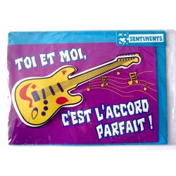 Carte postale neuve avec enveloppe sentiments amoureux saint valentin (07.04)