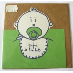 Carte postale neuve avec enveloppe enfant découpé papa in the best (14.01)