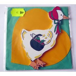 Carte avec enveloppe décor de chambre bois enfant motif oie canard (lot 19.01)