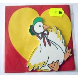 Carte avec enveloppe décor de chambre bois enfant motif oie canard (lot 19.02)