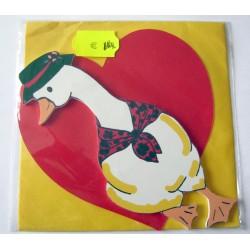 Carte avec enveloppe décor de chambre bois enfant motif oie canard (lot 19.03)