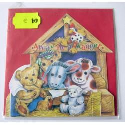 Carte postale découpée avec enveloppe enfant motif animaux (lot 20.03)