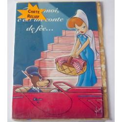 Carte postale neuve avec enveloppe fête anniversaire relief collection Tex Avery (lot 20.10)