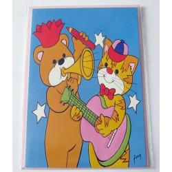 Carte postale neuve avec enveloppe fête anniversaire enfants humour (21.07)
