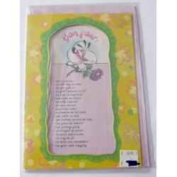 Carte postale neuve avec enveloppe fête anniversaire humour DIDDL (lot 21.09)