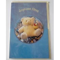 Carte postale neuve avec enveloppe fête enfant ourson (lot 01.01)