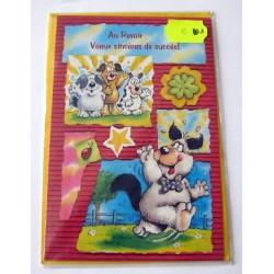 Carte postale neuve avec enveloppe au revoir voeux sincères (lot 01.09)