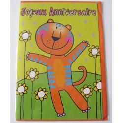 Carte postale neuve avec enveloppe fête anniversaire enfant (lot 01.11)