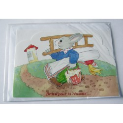 Carte postale double découpée avec enveloppe pour enfants bravo pour ta réussite neuve