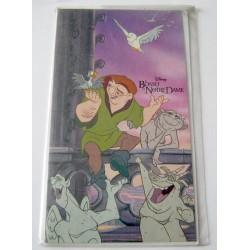 Carte postale double avec enveloppe sans texte fête diverses enfant DISNEY le bossu de notre dame neuve