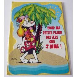 Carte postale découpée avec enveloppe fête anniversaire st valentin humour gai luron neuve