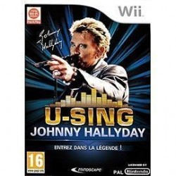 Jeux video U-Sing - Johnny Hallyday sur Wii karaoké neuf sous blister