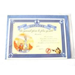 Carte postale neuve avec enveloppe fête CARTOON Diplôme du grand père le + gentil (lot 08.03)