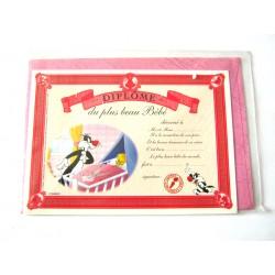 Carte postale neuve avec enveloppe fête CARTOON Diplôme du plus beau bébé (lot 08.04)
