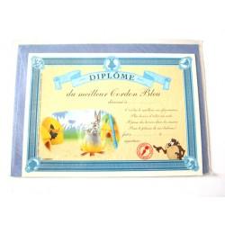 Carte postale avec enveloppe humour CARTOON félicitations Diplôme du meilleur cordon bleu neuve