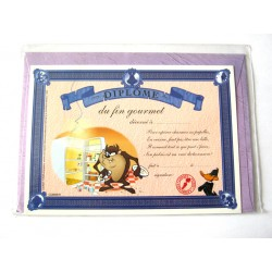 Carte postale avec enveloppe humour CARTOON félicitations Diplôme du fin gourmet neuve
