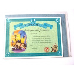 Carte postale avec enveloppe humour CARTOON félicitations Diplôme de la grande frimeuse neuve