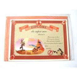 Carte postale avec enveloppe humour CARTOON félicitations Diplôme du super mec neuve