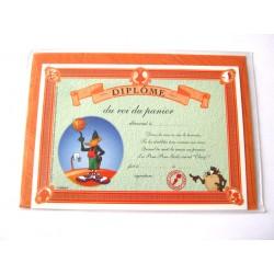 Carte postale avec enveloppe humour CARTOON félicitations Diplôme du roi du panier neuve