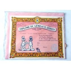 Carte postale avec enveloppe humour GAI LURON signe astrologique Diplôme du gémeau aérien neuve