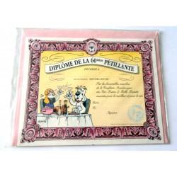 Carte postale avec enveloppe humour GAI LURON anniversaire Diplôme de la 60 aine neuve