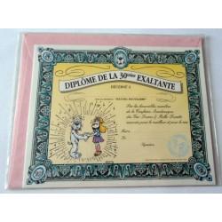 Carte postale neuve avec enveloppe fête humour GAI LURON Diplôme de la 30 aine exaltante (lot 14.09)