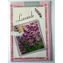 Carte postale avec enveloppe parfumé fête anniversaire pour femme floral LAVANDE neuve