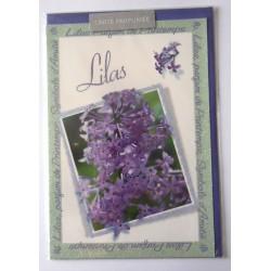 Carte postale avec enveloppe parfumé fête anniversaire pour femme floral LILAS neuve