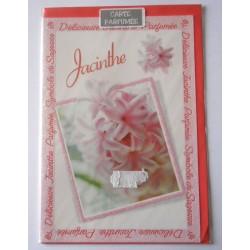 Carte postale avec enveloppe parfumé fête anniversaire pour femme floral JACINTHE neuve