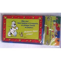 Lot de 5 Cartes mignonnettes assorties + enveloppes meilleurs voeux bonne année (lot 23.01)