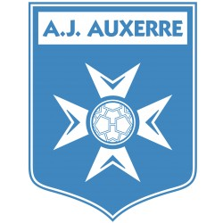 TRANSFERT TEXTILE VETEMENT SUPPORTER FOOTBALL FRANCE LOGO CLUB OLYMPIQUE A J AUXERRE NEUF