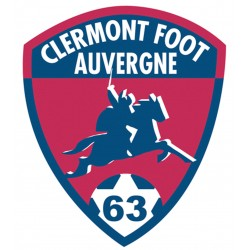 TRANSFERT TEXTILE VETEMENT SUPPORTER FOOTBALL FRANCE LOGO CLUB OLYMPIQUE CLERMONT NEUF
