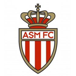 TRANSFERT TEXTILE VETEMENT SUPPORTER FOOTBALL FRANCE LOGO CLUB OLYMPIQUE AS MONACO NEUF