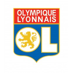 TRANSFERT TEXTILE VETEMENT SUPPORTER FOOTBALL FRANCE LOGO CLUB OLYMPIQUE OL LYON NEUF